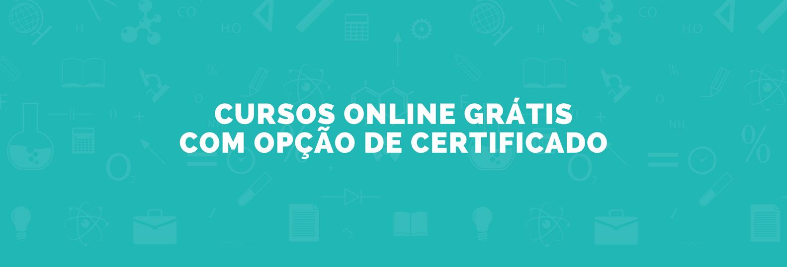 Cursos Online com certificado grátis